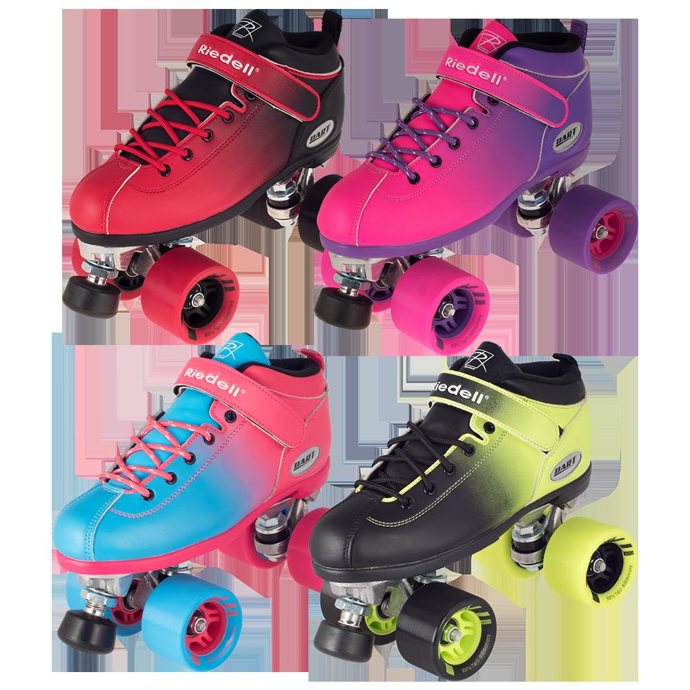Rink Amp Speed Roller Skates Dart Ombre Riedell Roller