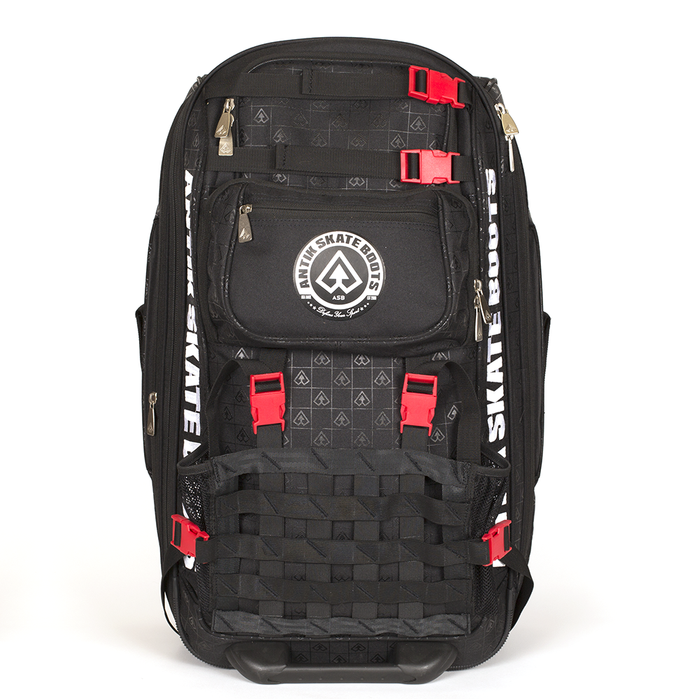 Antik Rolling Equipment Bag - Black and Red