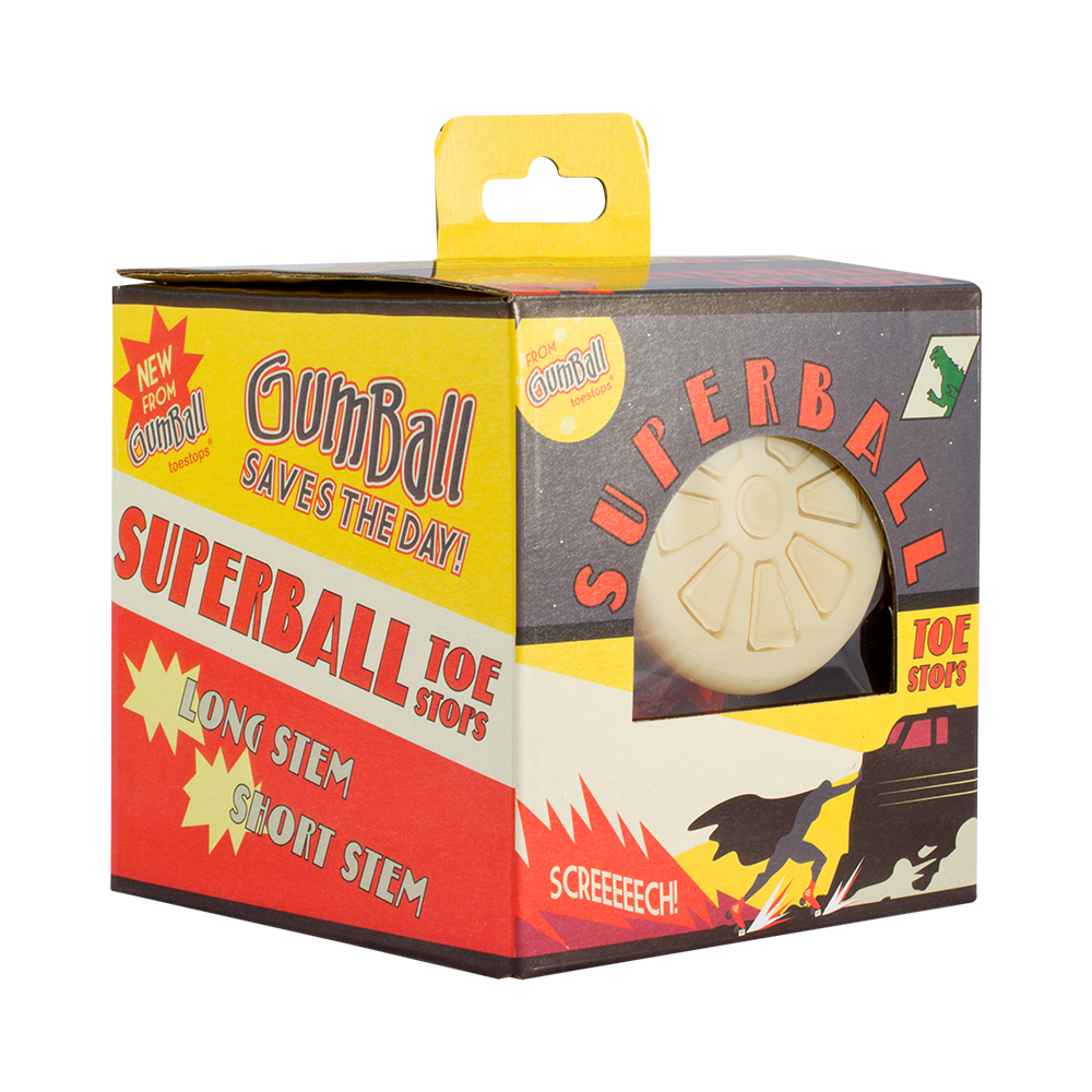 Superball Toe Stops by Gumball - Available in Long Stem and Short Stem