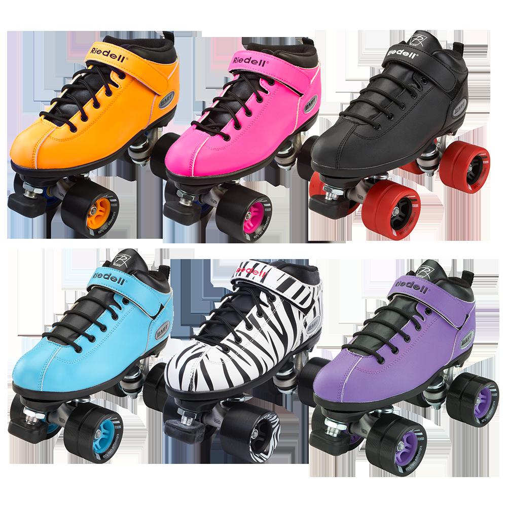 Zebra roller skates - Riedell Dart Roller Skate Set