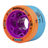 Reckless Wheels - Reckless Morph 88A/93A Orang and Blue Roller Skate Wheel