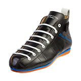 Riedell Low Cut Roller Skate Boots Blue Streak Black