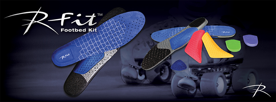 Order the Riedell R-Fit Footbed Kit - Designed for Roller Skates to add comfort and alleviate foot pain from common fit issues