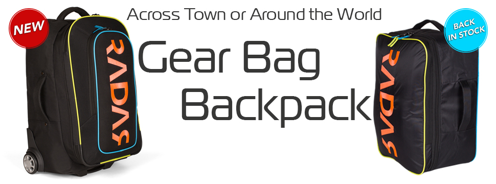 Check out the all new Radar Rolling Gear Bag and the updated Radar Backpack