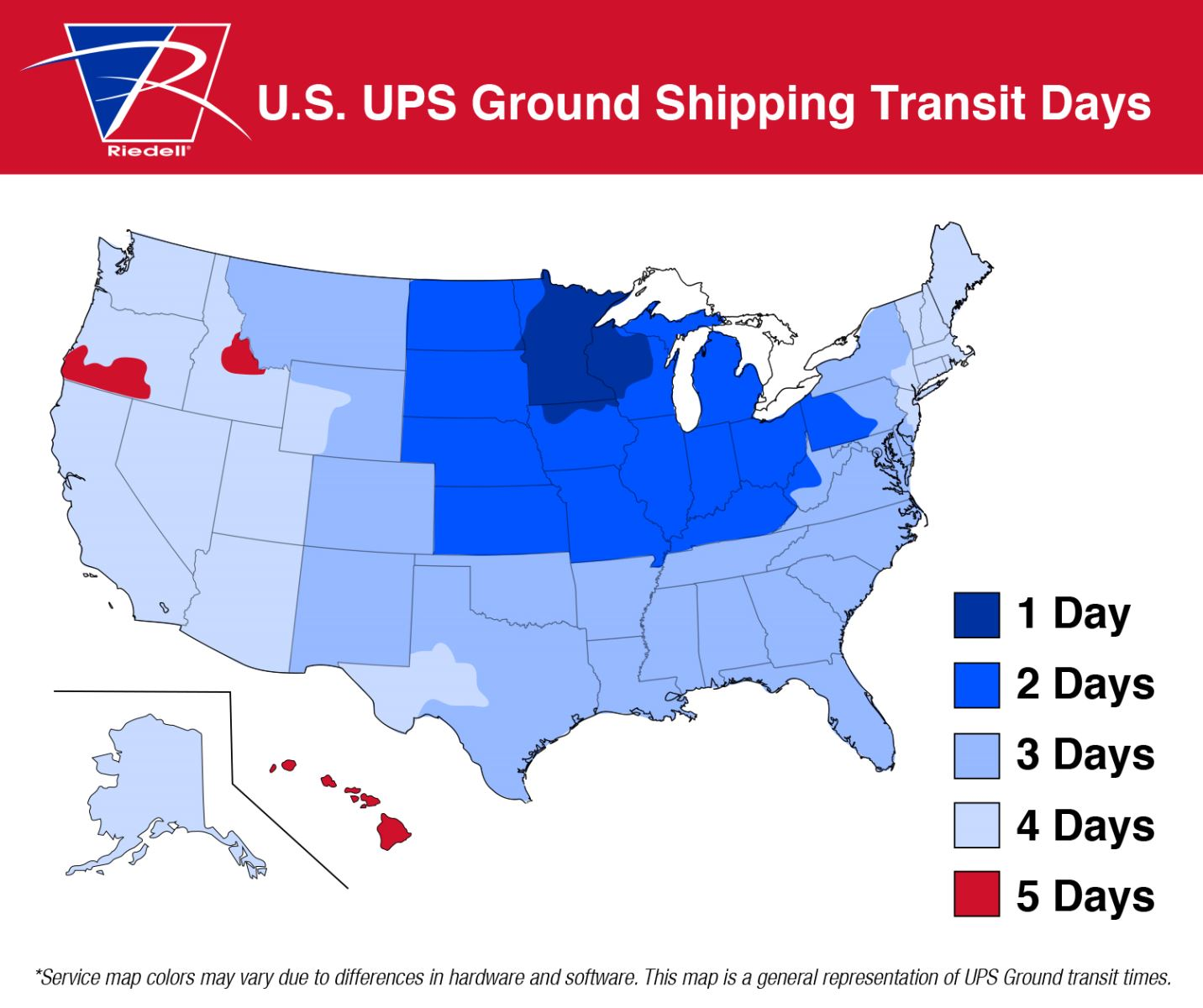 Shipping Information Riedell Roller Skates - Ups shipping time map