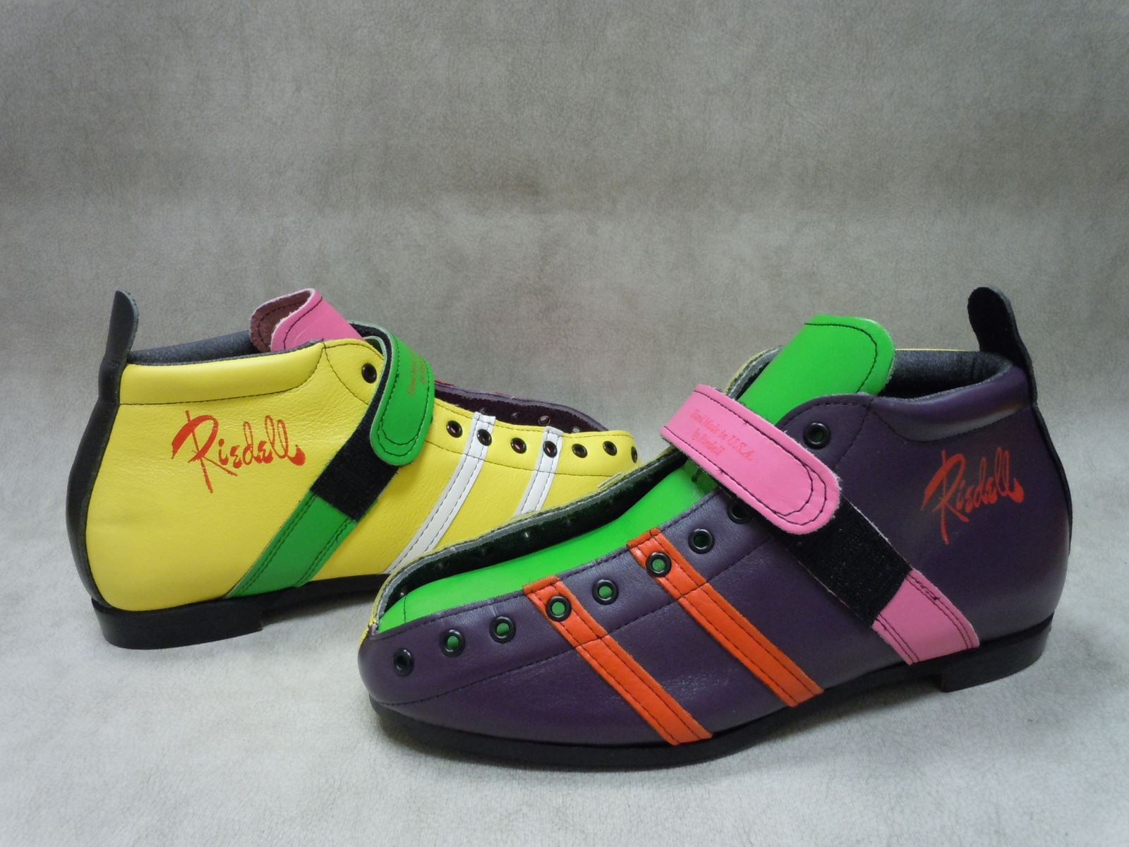 Riedell ColorLab Boot - Model 265 with Yellow, Green, Purple, and Pink Leather