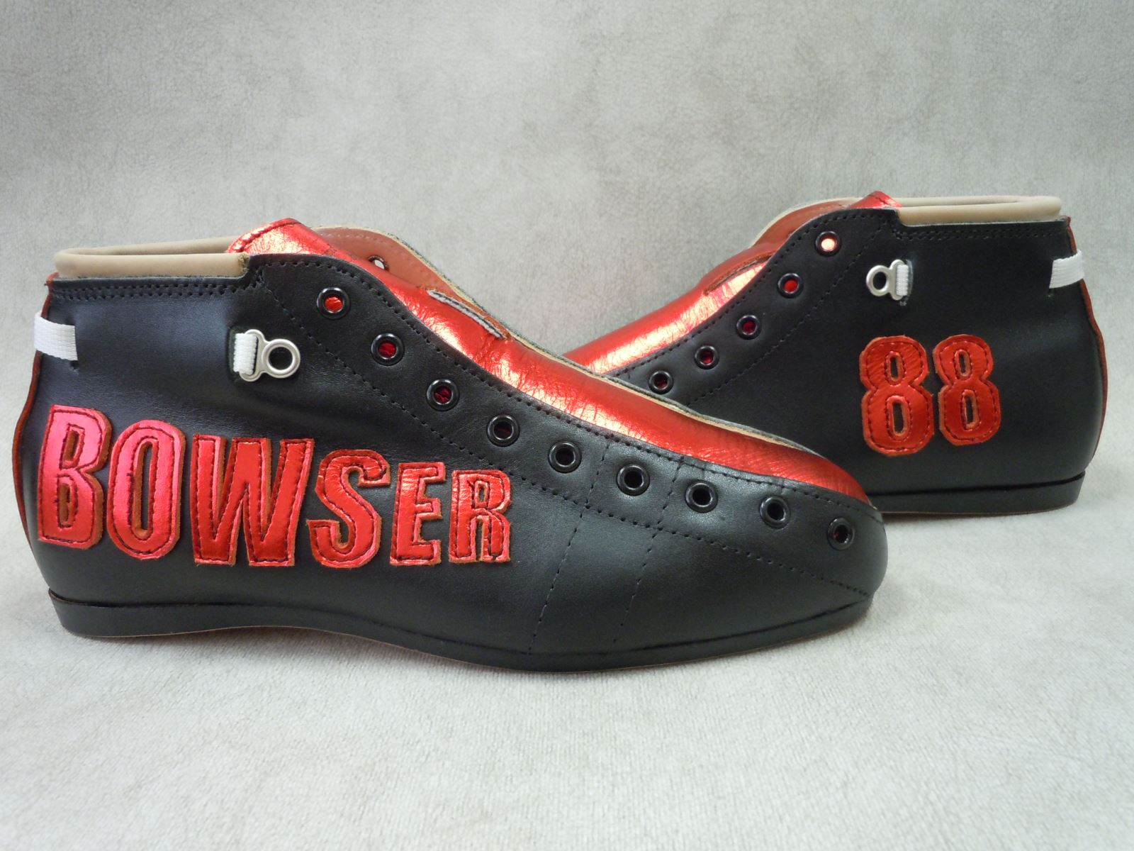 Riedell Custom Model 495 Boot with Bowser 88 Decals