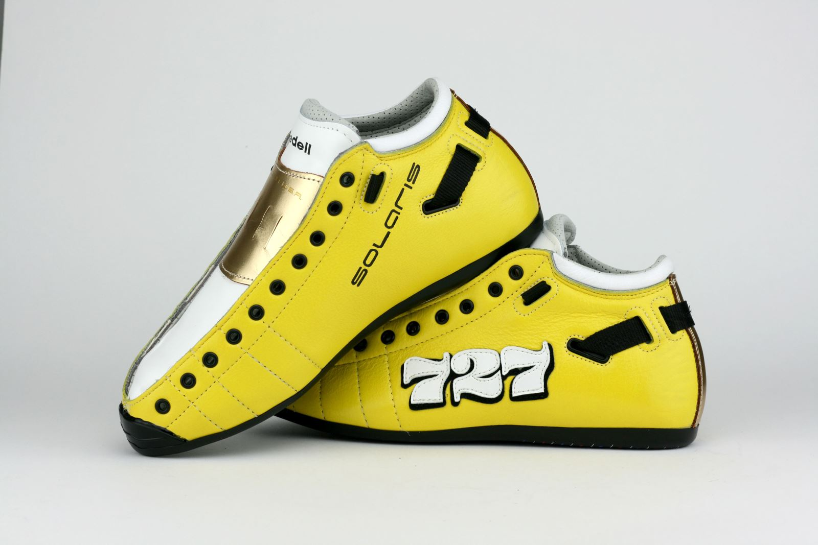Riedell Superstar Hurtrude Stein's Custom Solaris - Yellow Leather with 727 Graphic
