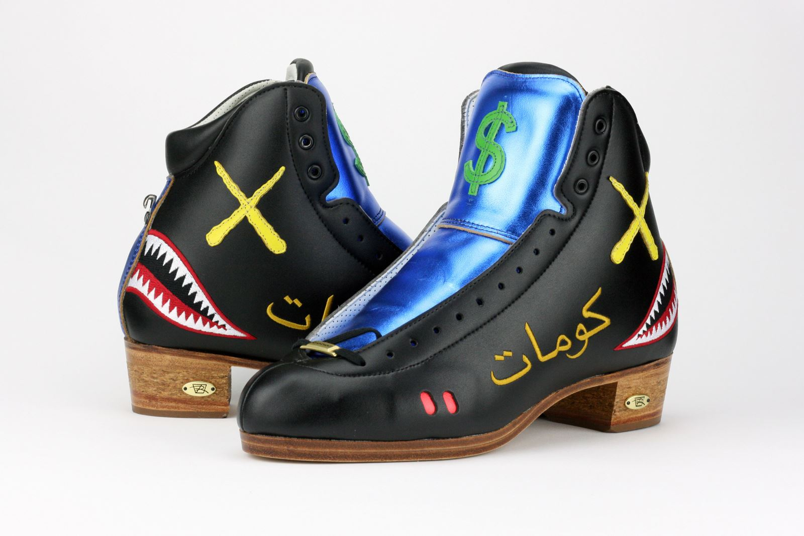 Team Riedell Skater T-Stacks' Custom Riedell 3200 Boots